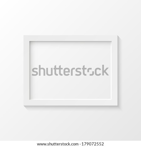 White picture frame vector illustration - stock vector
