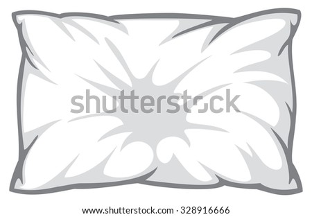white pillow - stock vector