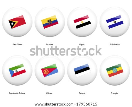 a country that starts with the letter d white pin badges flag all countries stock vector 179560715 20317