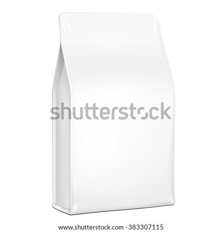 white plastic foil paper food bag stock vector 383307115 shutterstock. Black Bedroom Furniture Sets. Home Design Ideas
