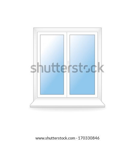 white plastic window. vector template. eps10 - stock vector