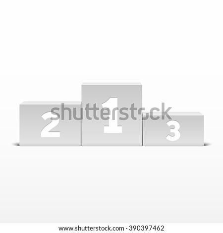 White podium winners - stock vector