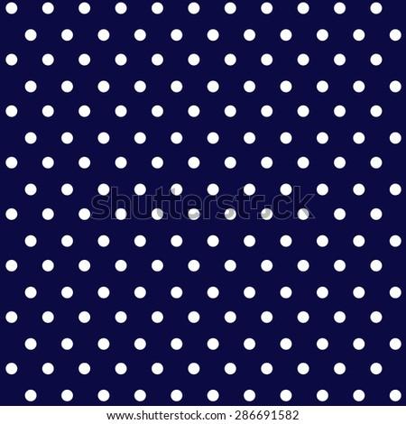 White Polka Dots On Navy Background