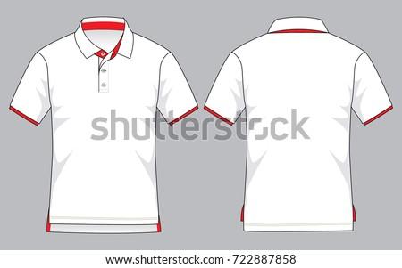 White Polo Shirt Template Stock Vector 722887858 - Shutterstock
