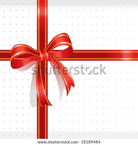 white present box sealed with red ribbon for special events- vector illustration - stock vector