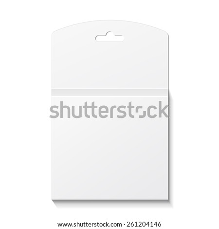 White Product Package Box Illustration Isolated On White Background. Mock Up Template Ready For Your Design. Product Packing Vector EPS10