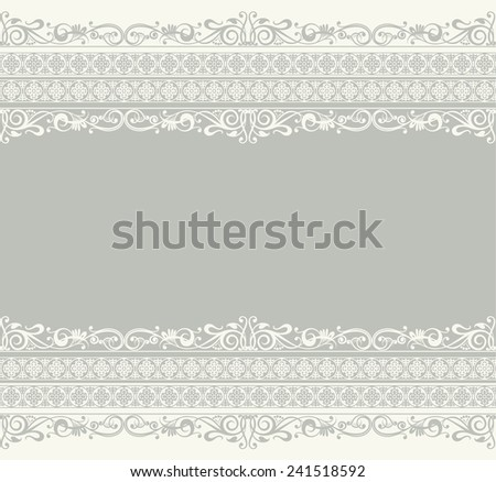 White ribbon lace vector vintage - stock vector