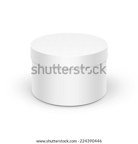 Round box template stock images royalty free images vectors white round box pronofoot35fo Images