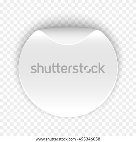 White round sticker on transparent background stock vector 2018 455346058 shutterstock