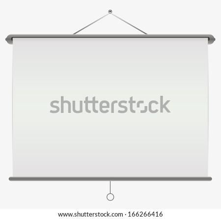 White screen projector. - stock vector