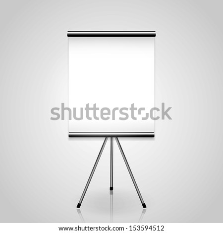 White screen projector clean background - stock vector