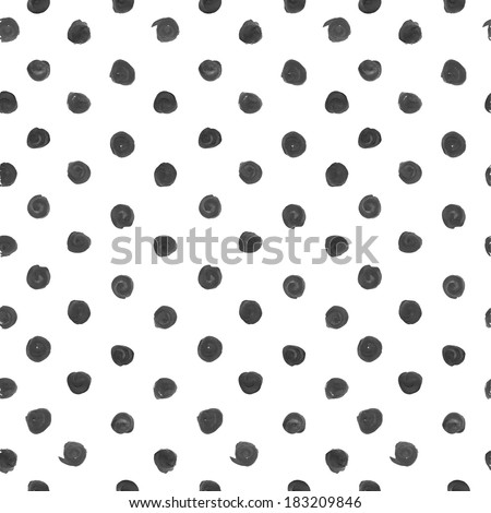 White seamless ornament in a small black circle of rough thick paint strokes. Vintage background - stock vector