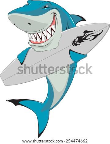 White shark - stock vector