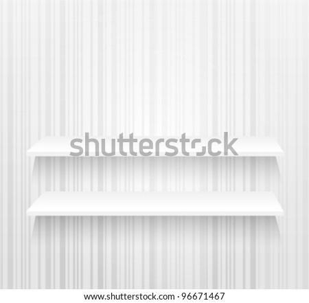 white shelves - stock vector