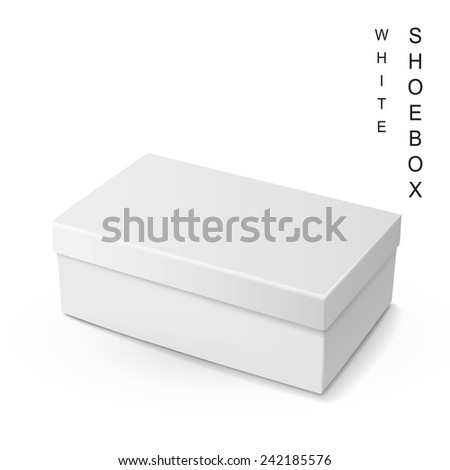 white shoe box isolated on white background - stock vector