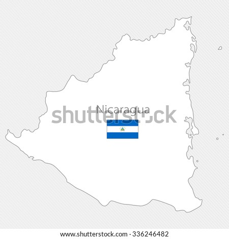White Silhouette Map Grenada North America Stock Vector 336246482