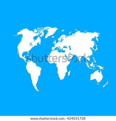 White similar vector political world map stock vector 424031728 white similar vector political world map on blue background world map vector world map gumiabroncs Image collections