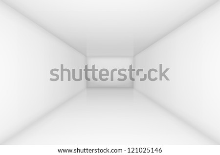 White simple empty room interior. Illustration for design - stock vector
