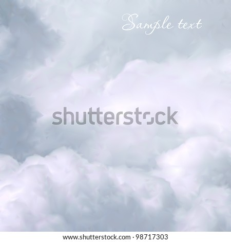 White Sky and Clouds. Vector - stock vector