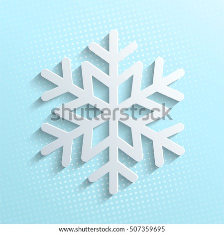 White Snowflake Icon Isolated On Blue Stock Photo Photo Vector