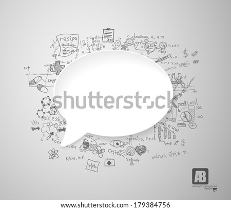 White speech bubble with medicine signs - stock vector