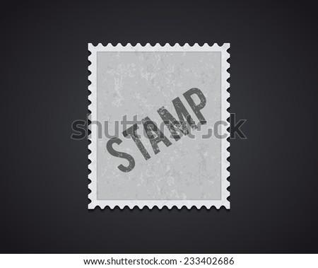white stamp mockup - stock vector