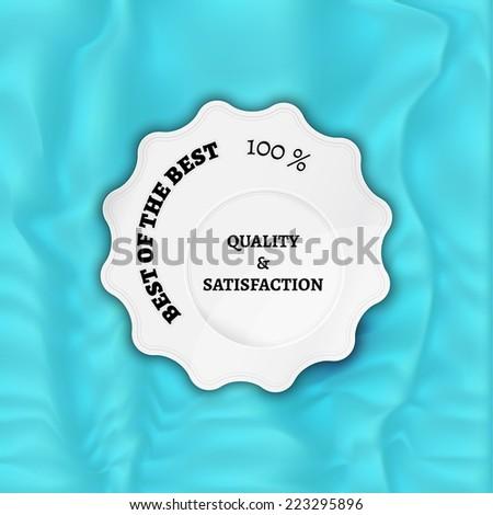 white stamp, sticker, or label on velvet background - stock vector