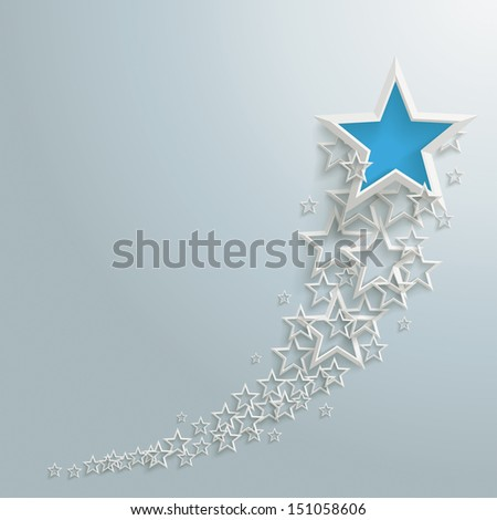 White stars on the grey background. Eps 10 vector file. - stock vector
