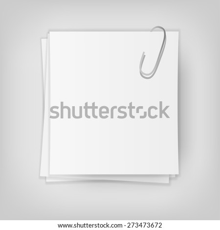 white stick note isolated, vector illustration - stock vector
