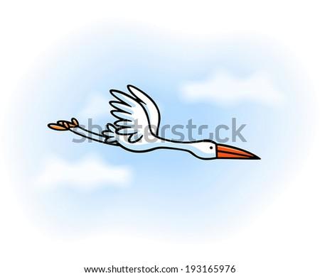 White stork  - stock vector