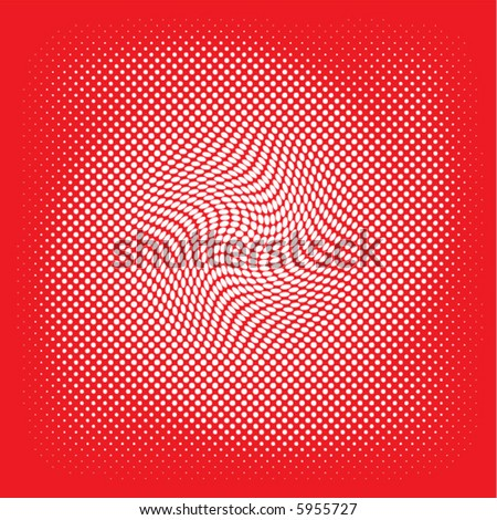white swirl vector on a red background - stock vector