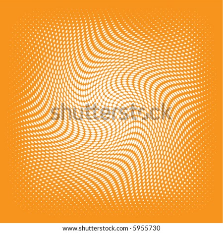 white swirl vector on an orange background - stock vector