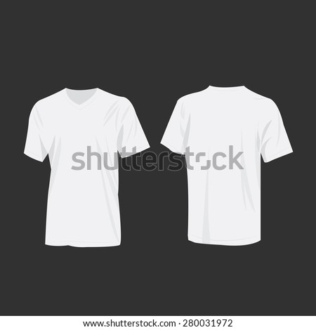 White T-shirt vector