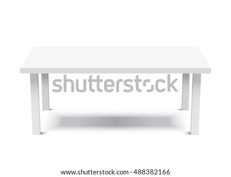 White Table / Platform / Stand. Template for Object Presentation.Vector Illustration.