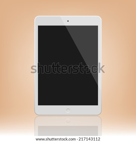 White Tablet Computer  Illustration Similar To iPad - stock vector