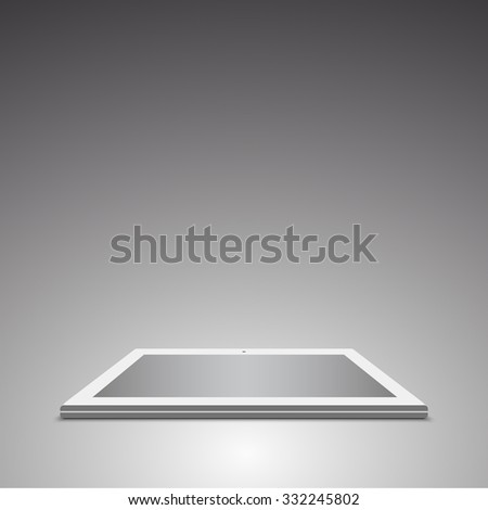 White tablet. 3D vector