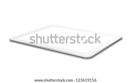 White Tablet PC - stock vector