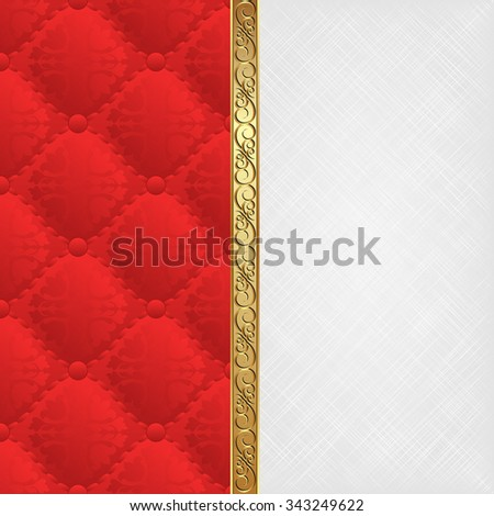 white texture and red pattern divided into two - stock vector