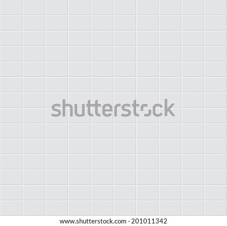 White tiles vector texture. - stock vector