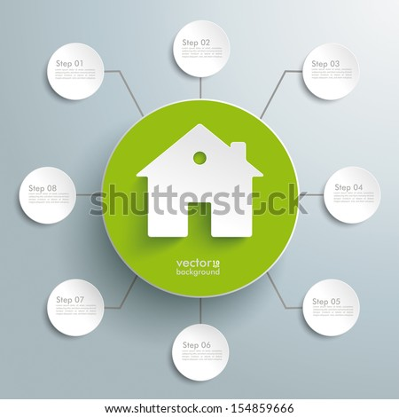White tooth with blue circle on the grey background. Eps 10 vector file. - stock vector