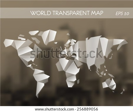 Origami world imgenes pagas y sin cargo y vectores en stock white transparent world map world map concept gumiabroncs Choice Image