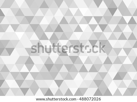 White triangles abstract background