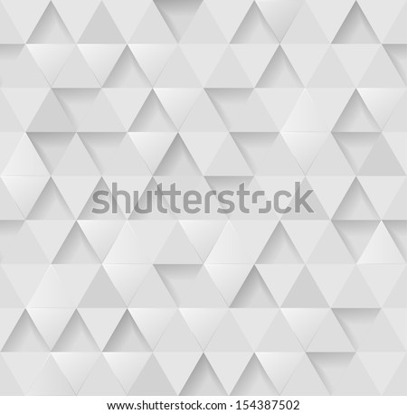 White triangular background, eps10 vector - stock vector