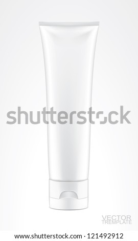white tube isolted on white, vector illustration