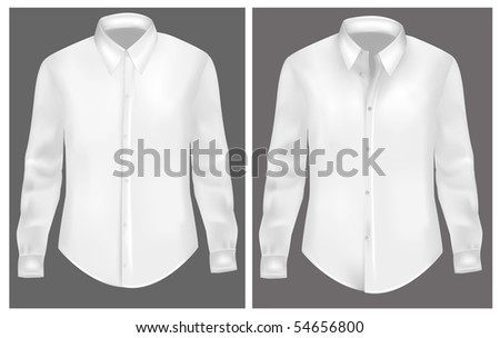 White two t-shirts. Photo-realistic vector illustration - stock vector
