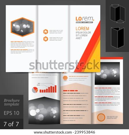 White vector brochure template design color stock vector for Red brochure template