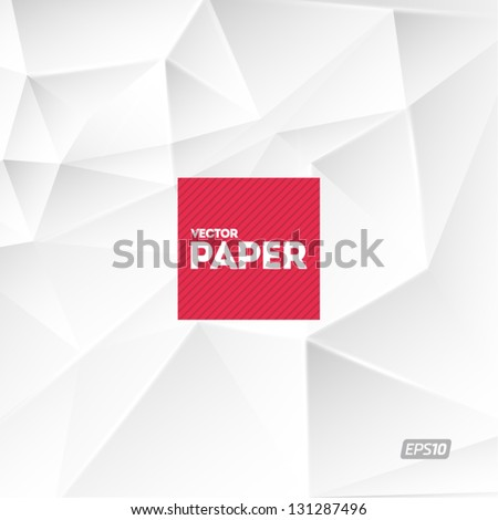 White vector paper - stock vector