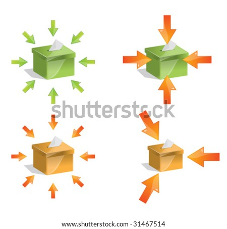 White Vote at the Ballot Box - stock vector