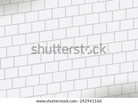 White wall. for wallpaper or background. - stock vector