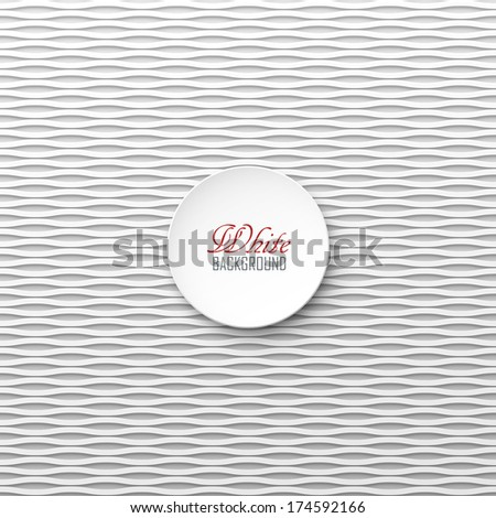 White wavy vector background - stock vector